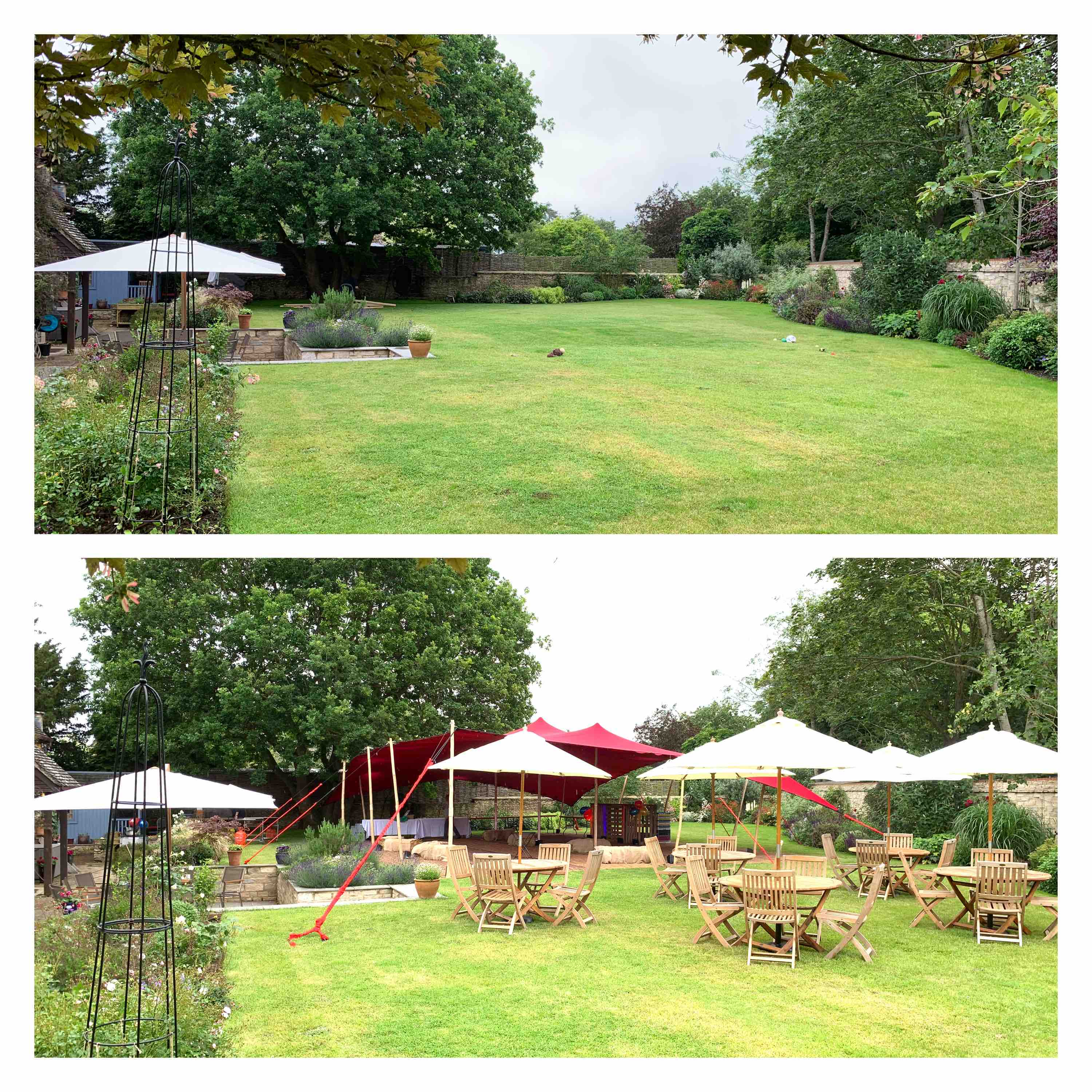 Before & After Stretch Marquee Hire Oxford